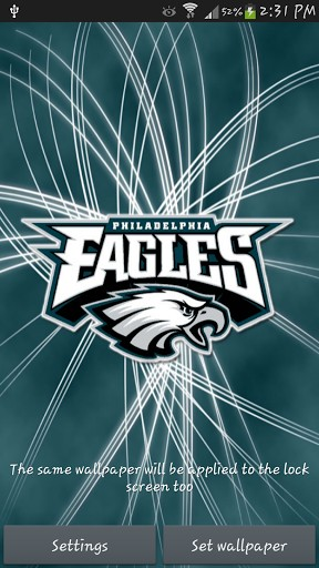 Philadelphia Eagles 3D LWP App For Android 288x512