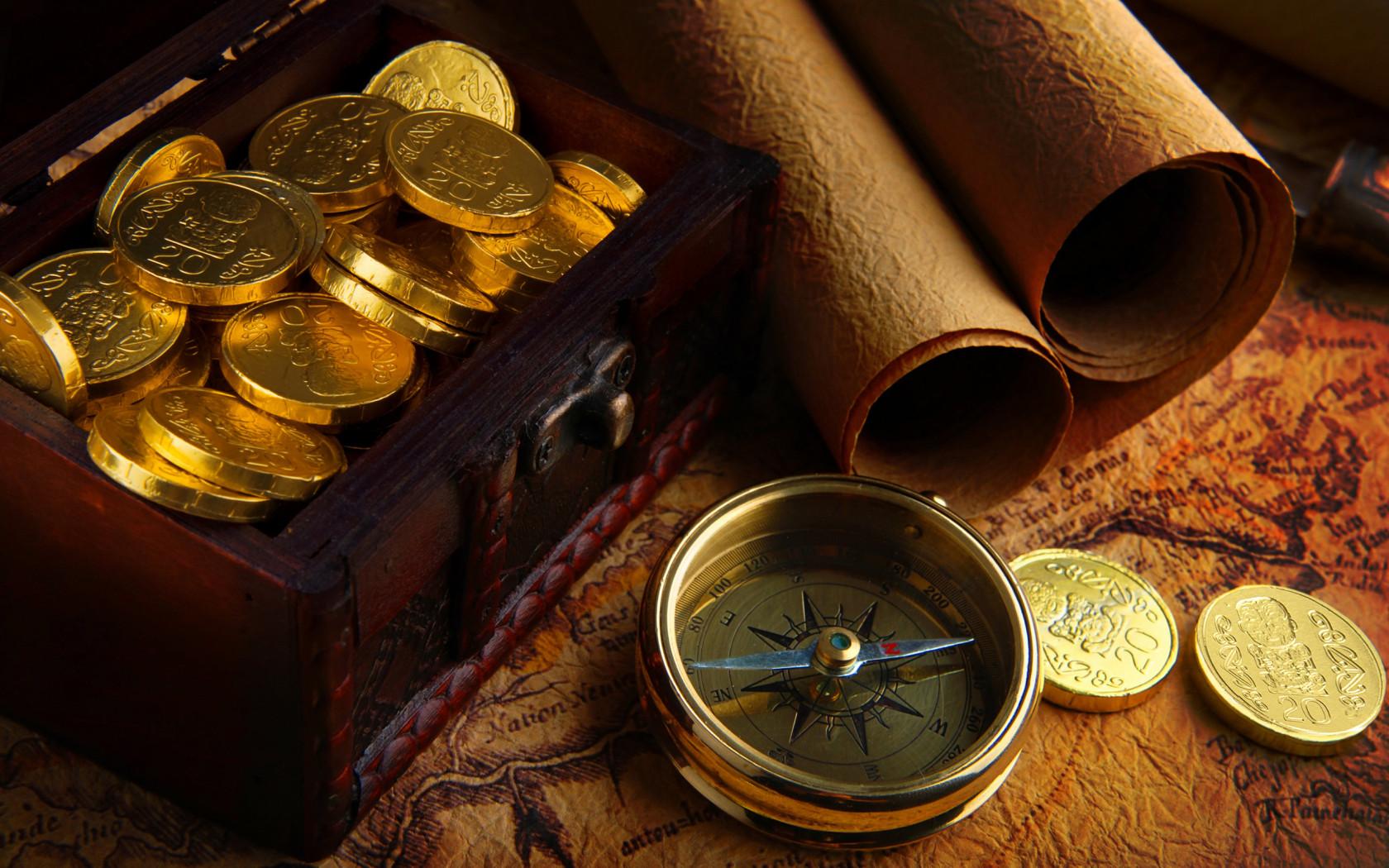 Desktop wallpapers » Creative Wallpaper » Gold Pirate Treasure ...