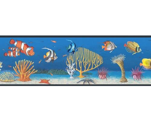 Seascape Tropical Fish Peel and Stick Wall Border 500x400