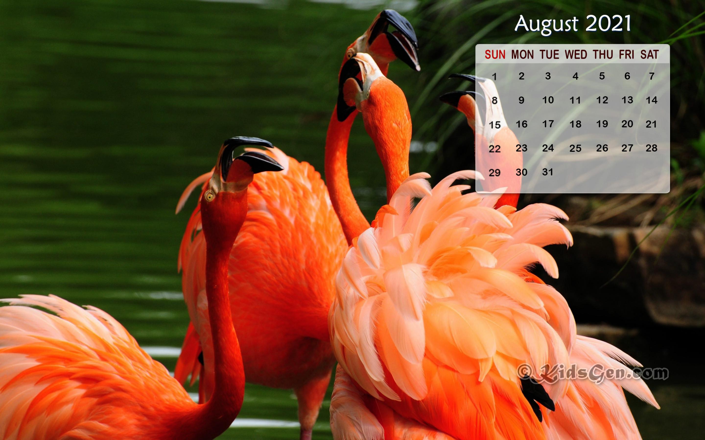 August 2021 Calendar Wallpaper 2880x1800