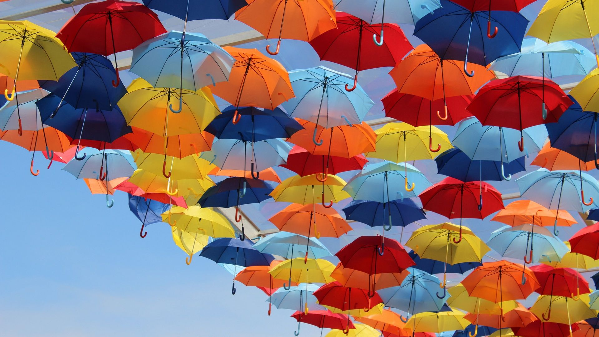 Umbrella Wallpaper Wide 9u0 Awesomeness Colorful umbrellas 1920x1080