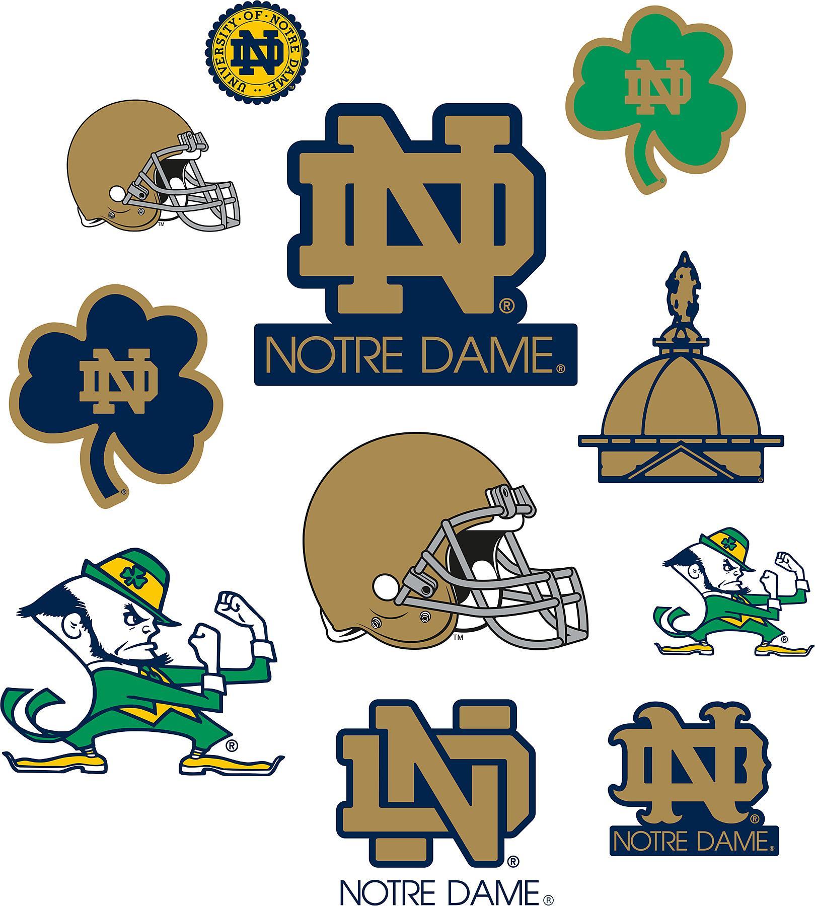 Wallcovering Notre Dame Fighting Irish Logo Fathead Jr Search Results 1619x1800