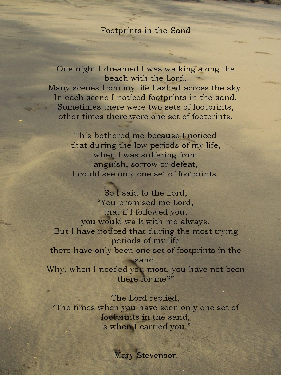 Yellow Color Wallpapers footprints in the sand poem 1200x1600