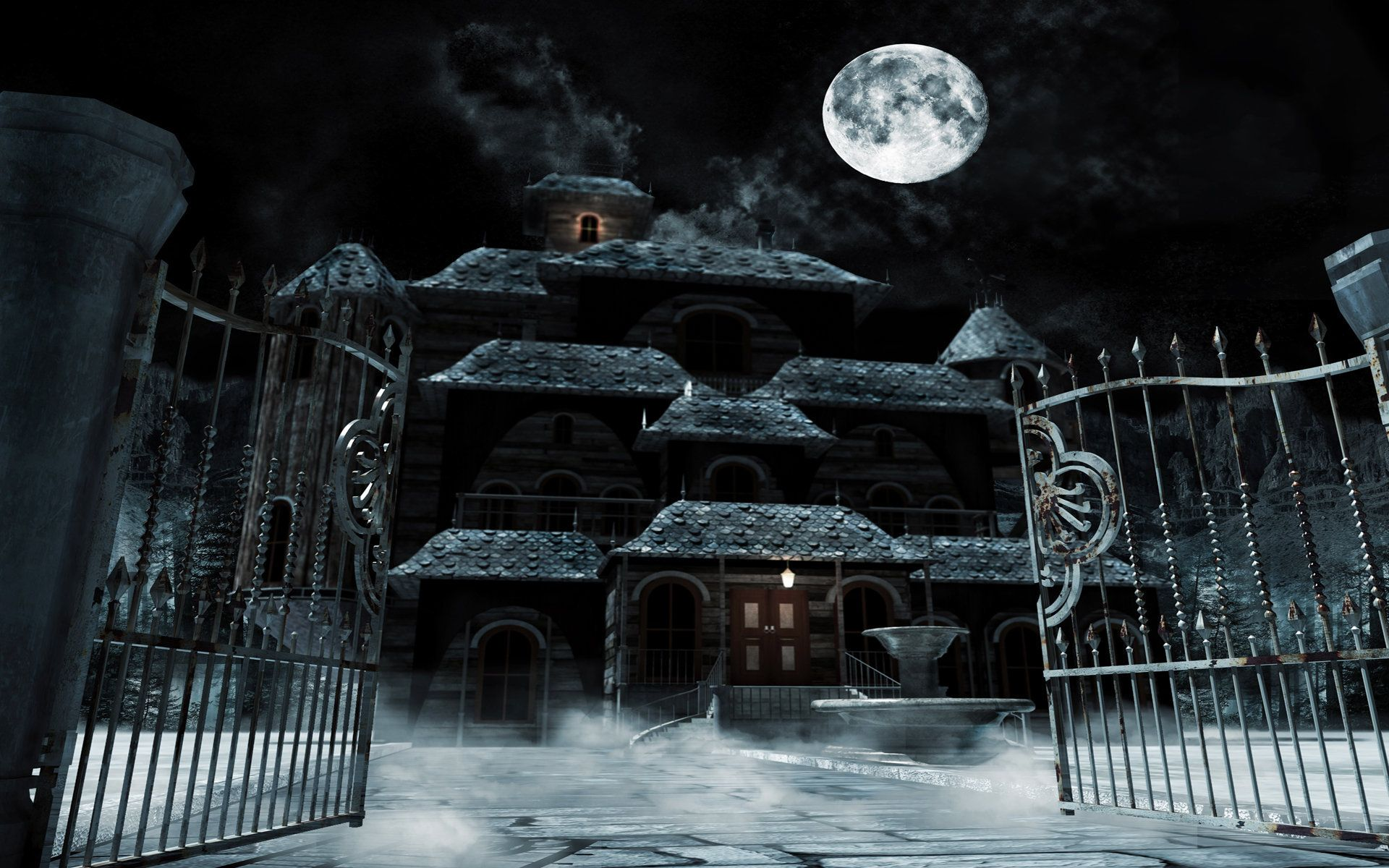 Haunted House Wallpapers 1920x1200