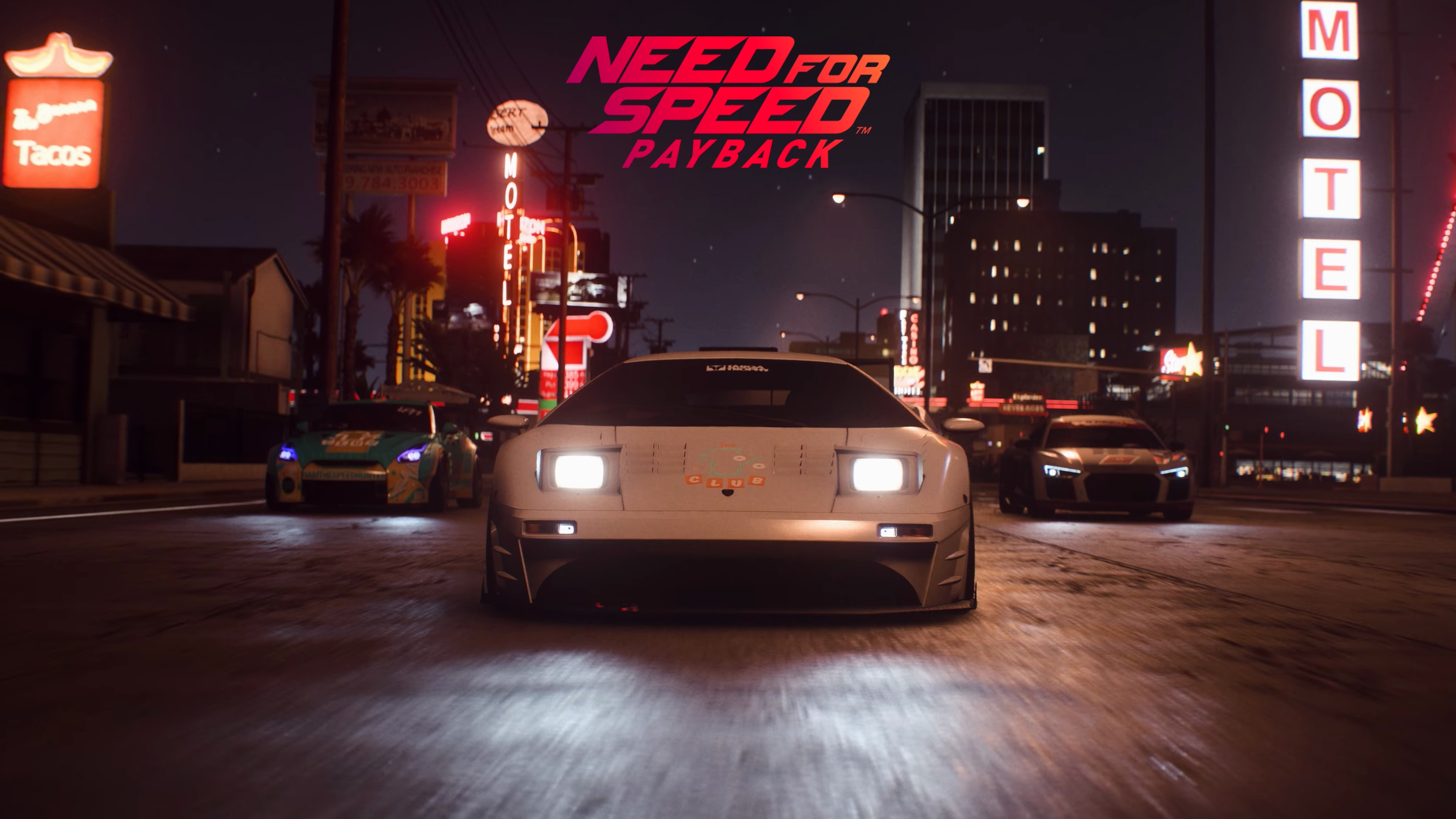 Need for Speed Payback [Video Game] Wallpaper HD 3840x2160