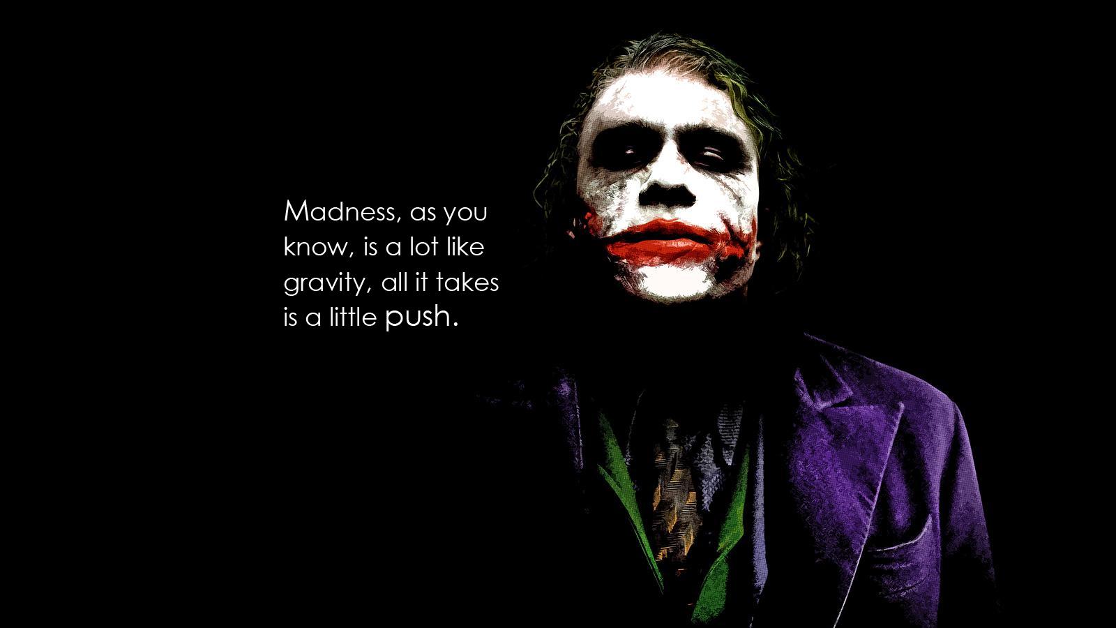 Joker quote from the dark knight 1600x900