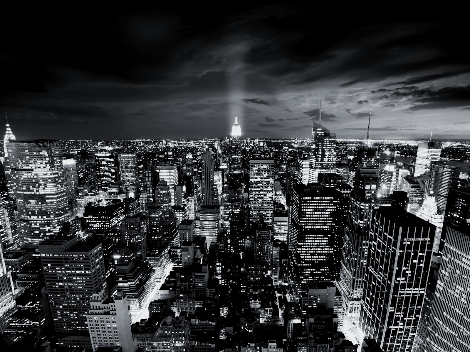 Black and White City That Never Sleeps wallpaper The Long Goodbye 1600x1200