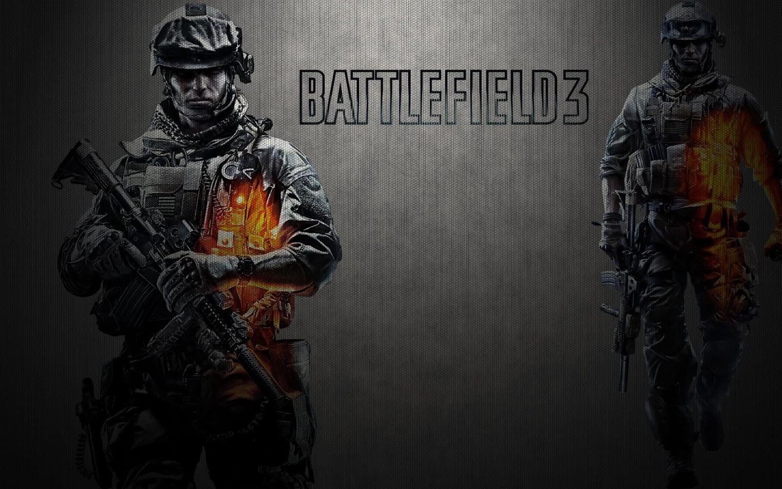 Battlefield 3 wallpaper met soldaten Achtergrond Wallpapers 1600x1000
