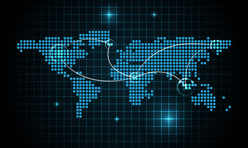 Digital World Map Background   Illustrator Tutorials Tips 500x300