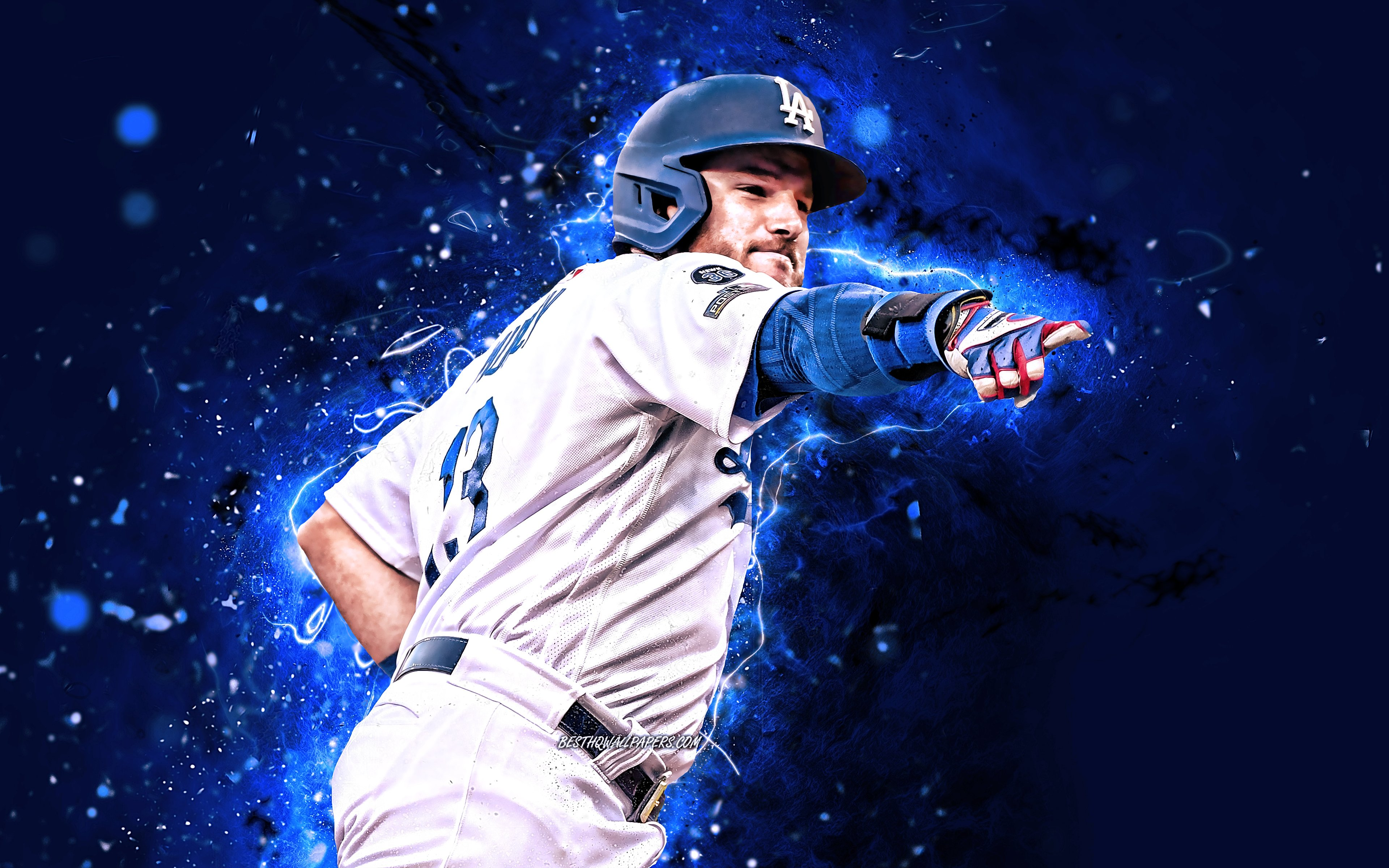 Download wallpapers Max Muncy 4k MLB Los Angeles Dodgers 3840x2400