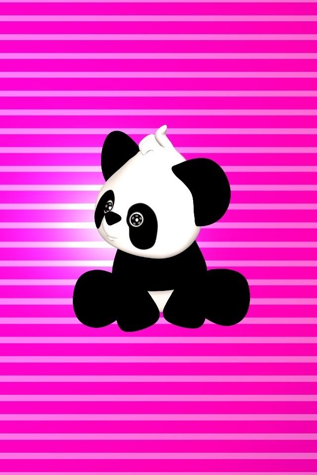 Panda on Pink iPhone HD Wallpaper iPhone HD Wallpaper download iPhone 640x960