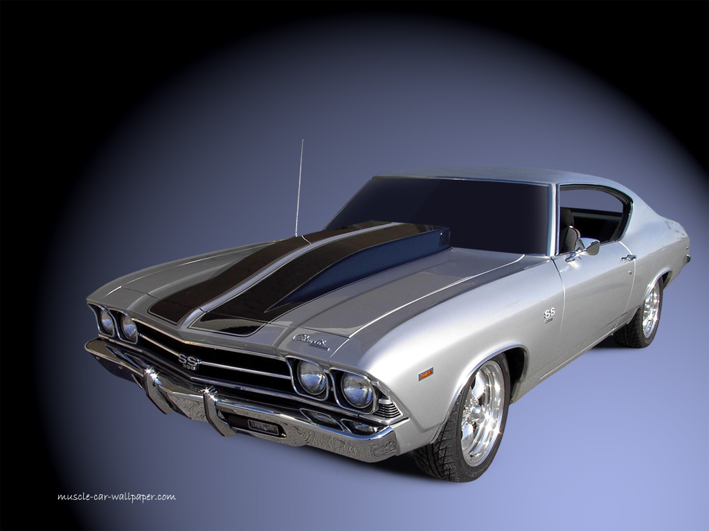 1969 Chevelle SS Wallpaper   Silver Coupe   Left Front View 1024x768