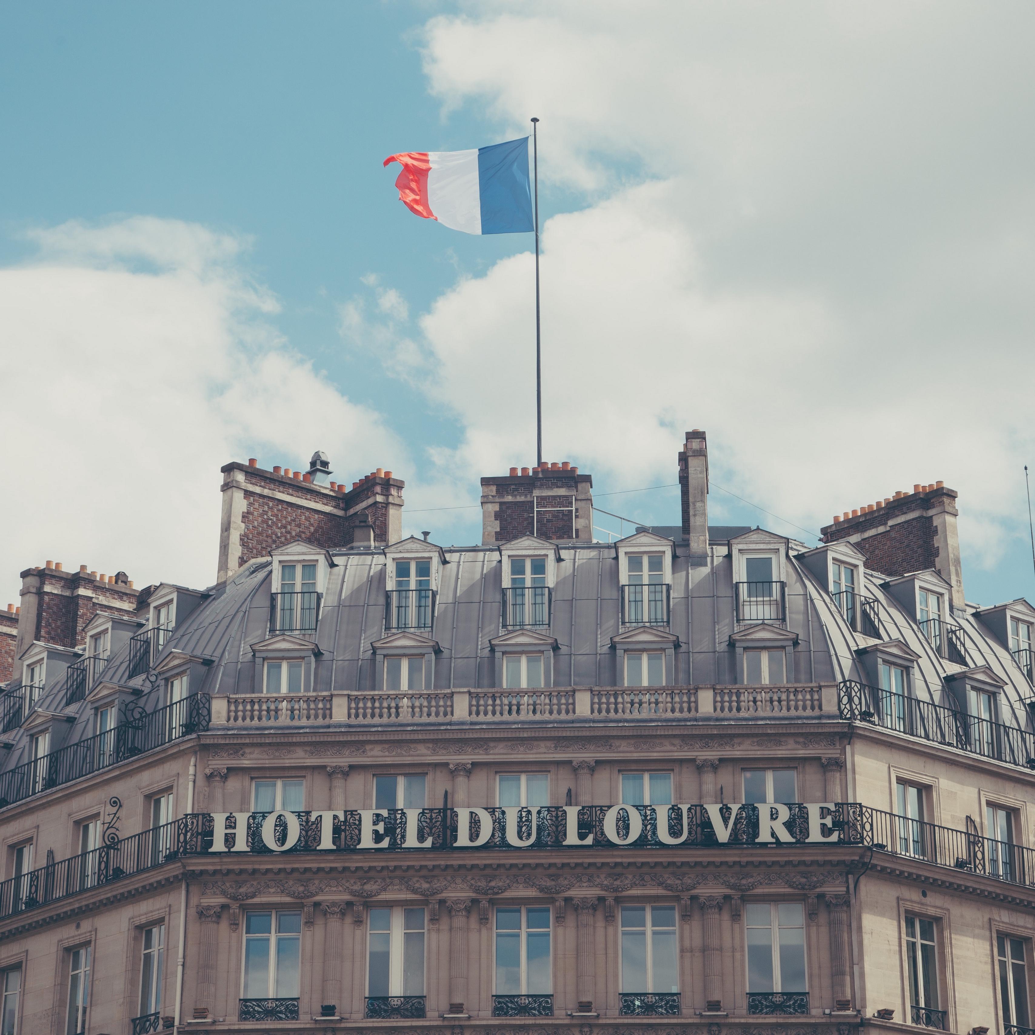 Download wallpaper 3415x3415 paris france hotel hotel du louvre 3415x3415