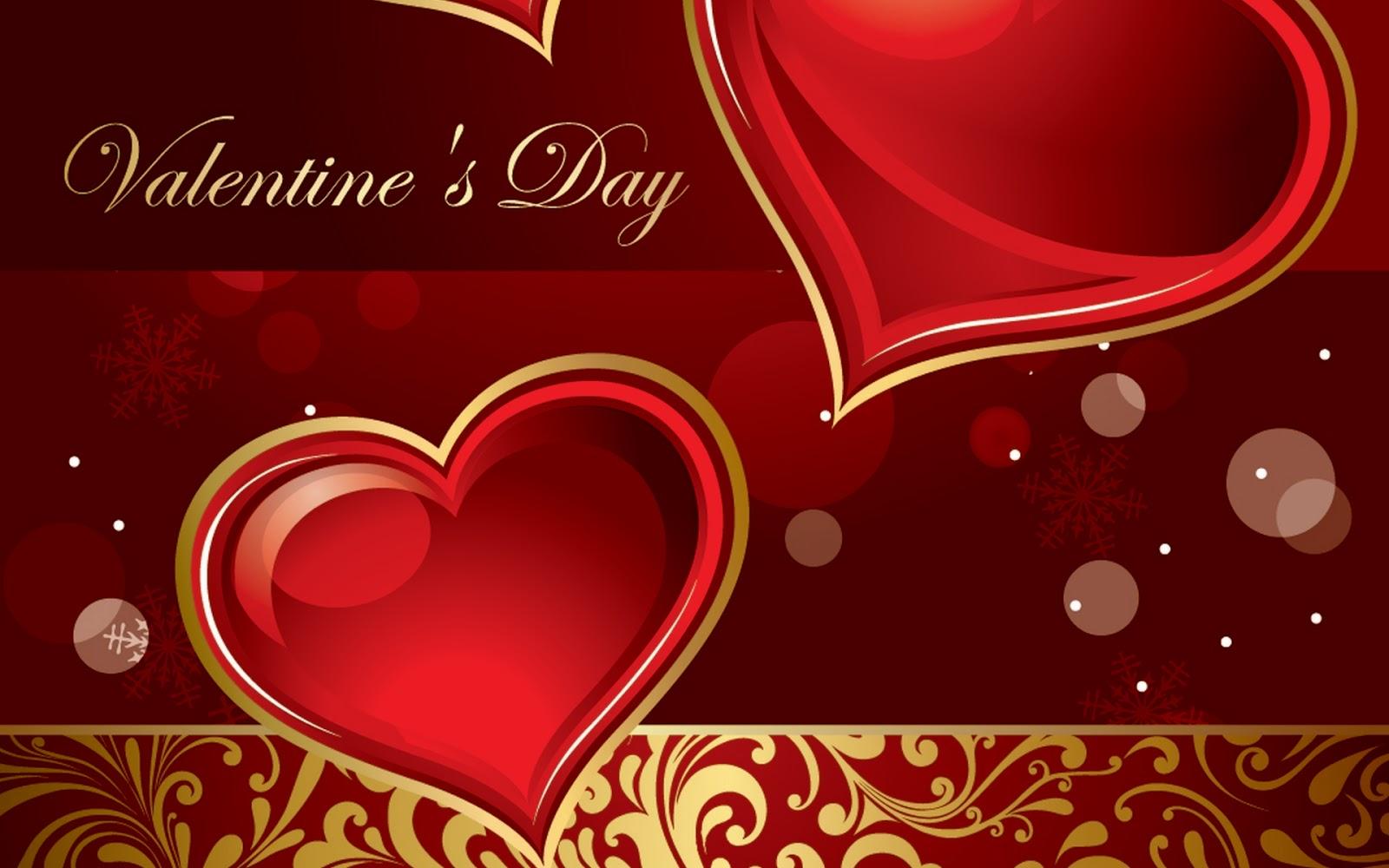 Valentine Day Desktop Background   Cute Red Valentines 1600x1000