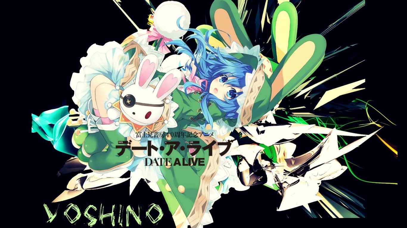 Yoshino with Black Spectrum   Date a Live Wallpaper 1366x768
