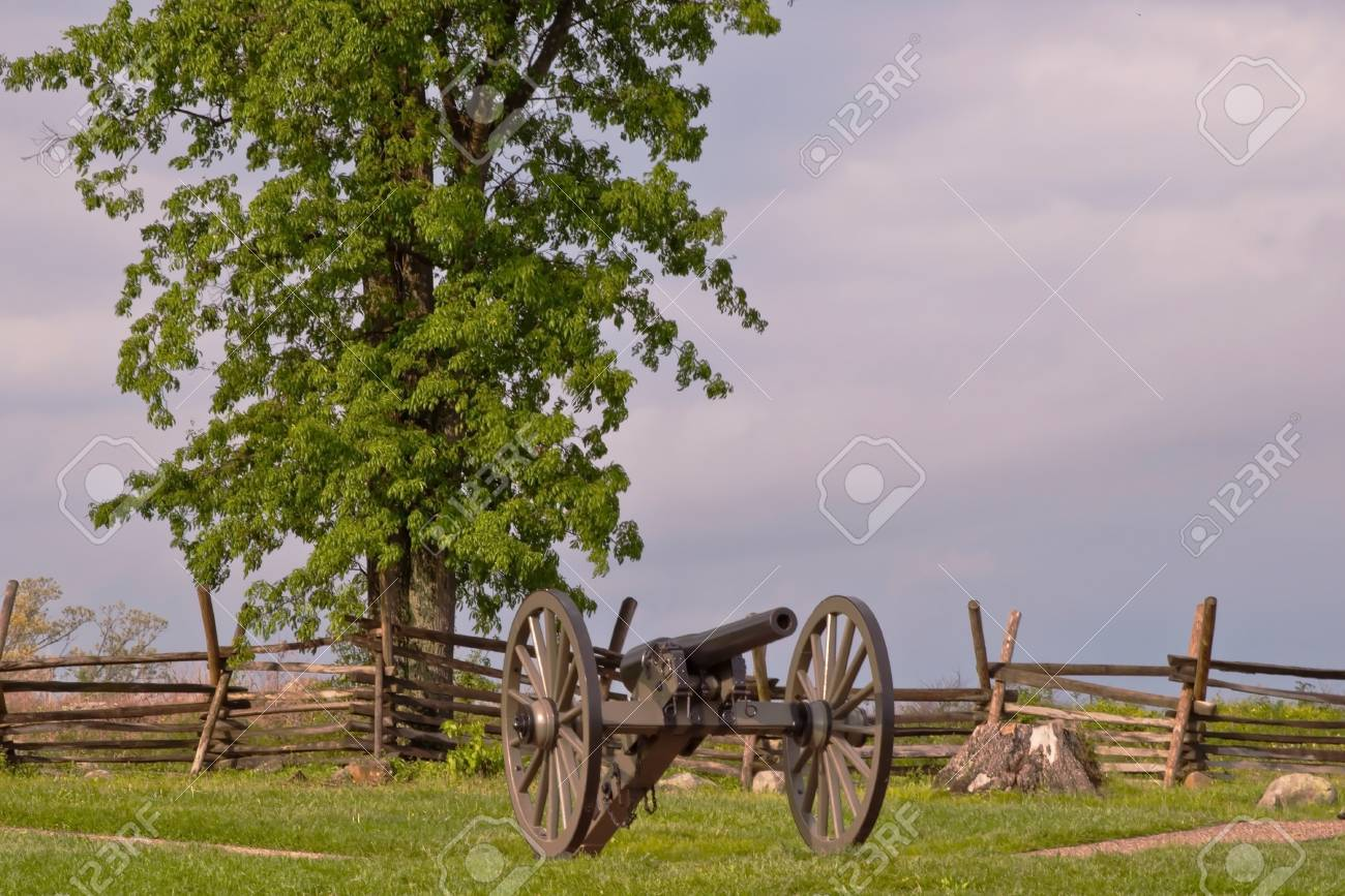 A Cannon At Gettysburg National Battlefield With A Wooden Fence 1300x867