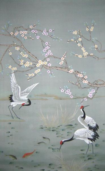 China Hand Painted Wallpaper CHINOISERIE 14   China Wallpaper Hand 370x600