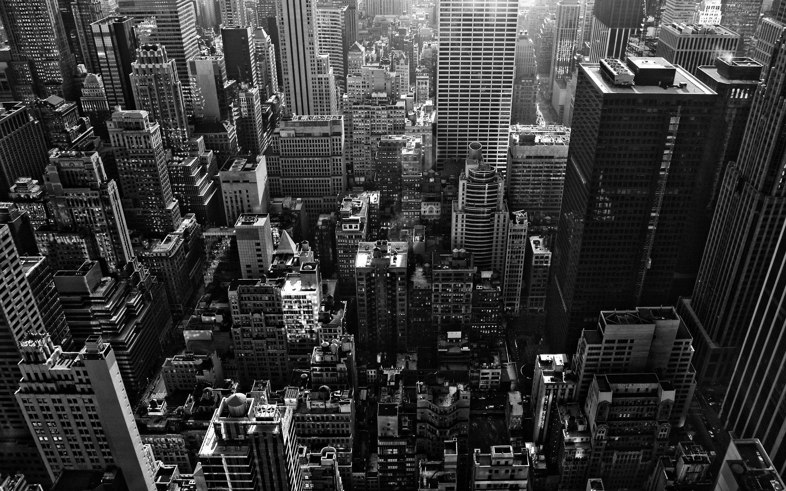 New York City Black And White HD Wallpaper 2560x1600