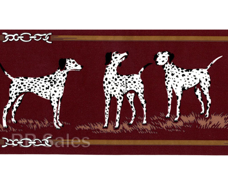 Gold Dalmatian Dog Animal Pet Man Cave Vintage Wallpaper Wall Border 800x640