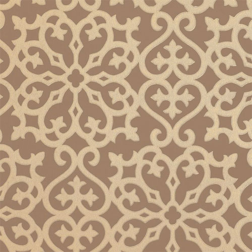 Damask Wallpaper in Metallic on Brown   All Wallpaper   Wallpaper 500x500