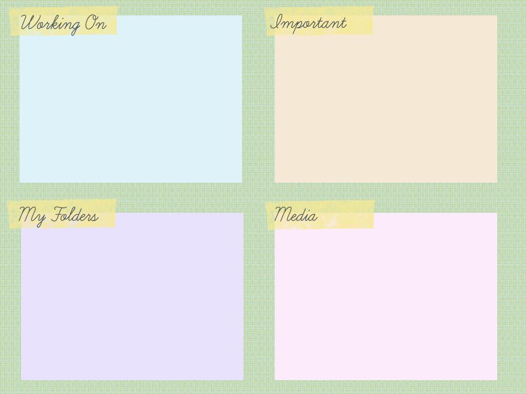 Desktop Background Organizer Template