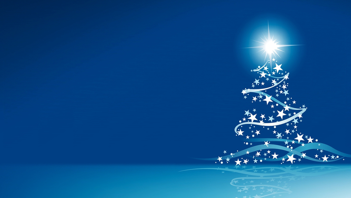 Blue Christmas   Backgrounds Wallpapers Pictures Pics Photos 1360x768