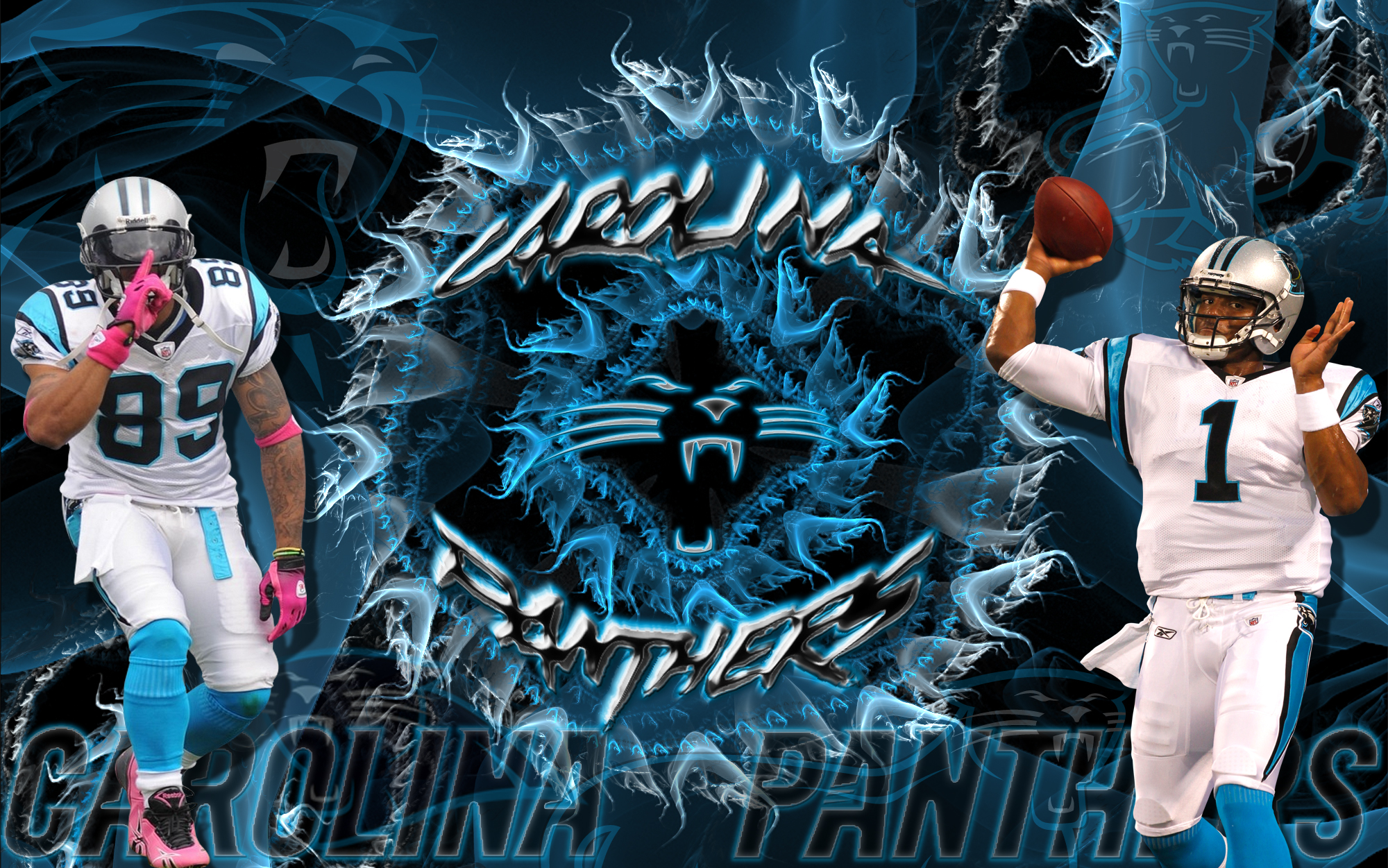 Carolina Panthers Explosion Wallpaper for Phones and Tablets 2000x1251