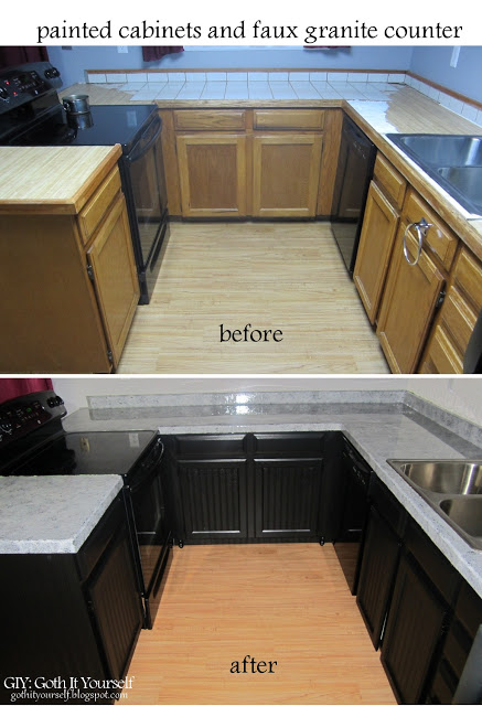 kitchen cabinet makeover ever just using beadboard wallpaper and paint 437x640