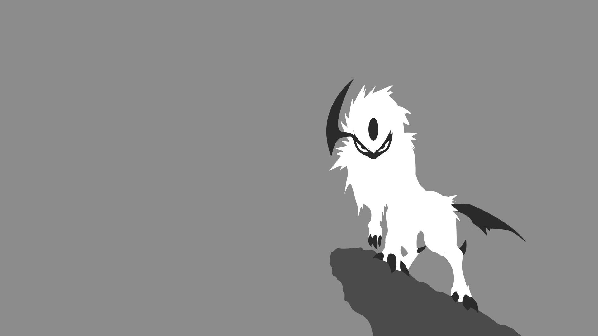 Absol pokemon simple background wallpaper 77147 1920x1080