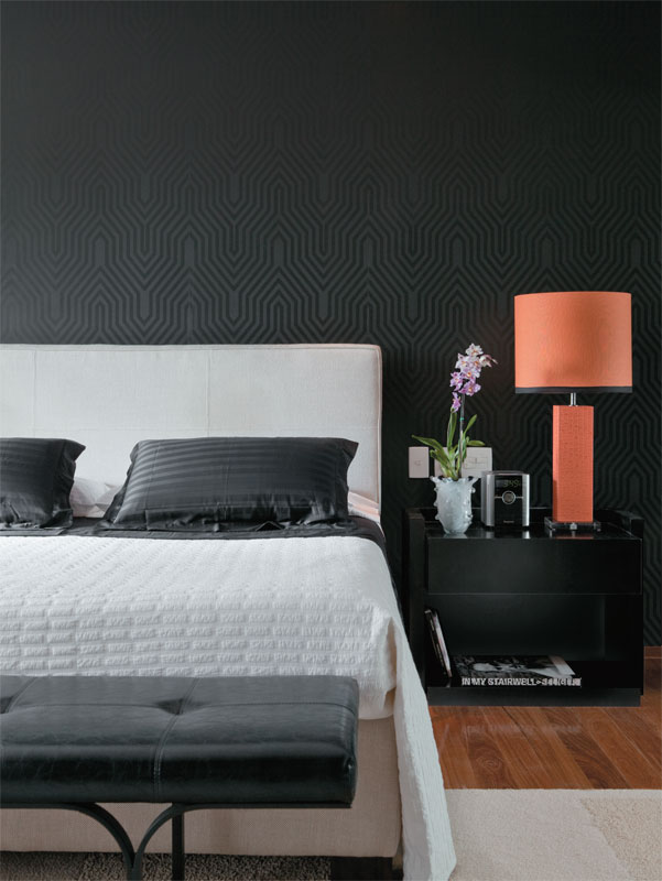 black wallpaper bedroom 2015   Grasscloth Wallpaper 601x800