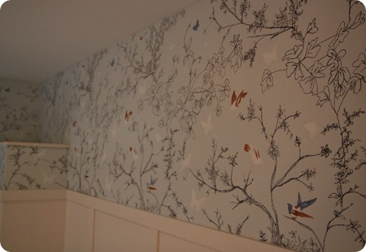 ... was inspired by Schumacher's Birds and Butterflies Wall Covering