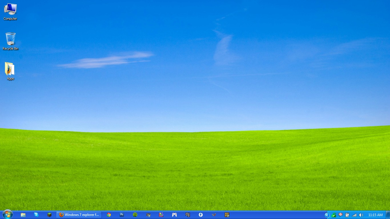 windows xp plain blue wallpaper