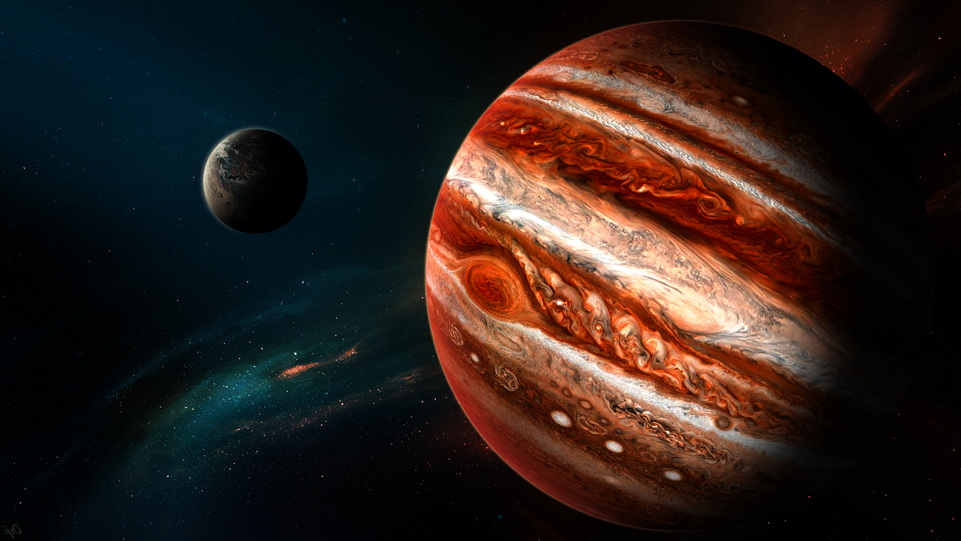 Download fantasy Art Space Planet Jupiter Space Art Wallpapers 1920x1080