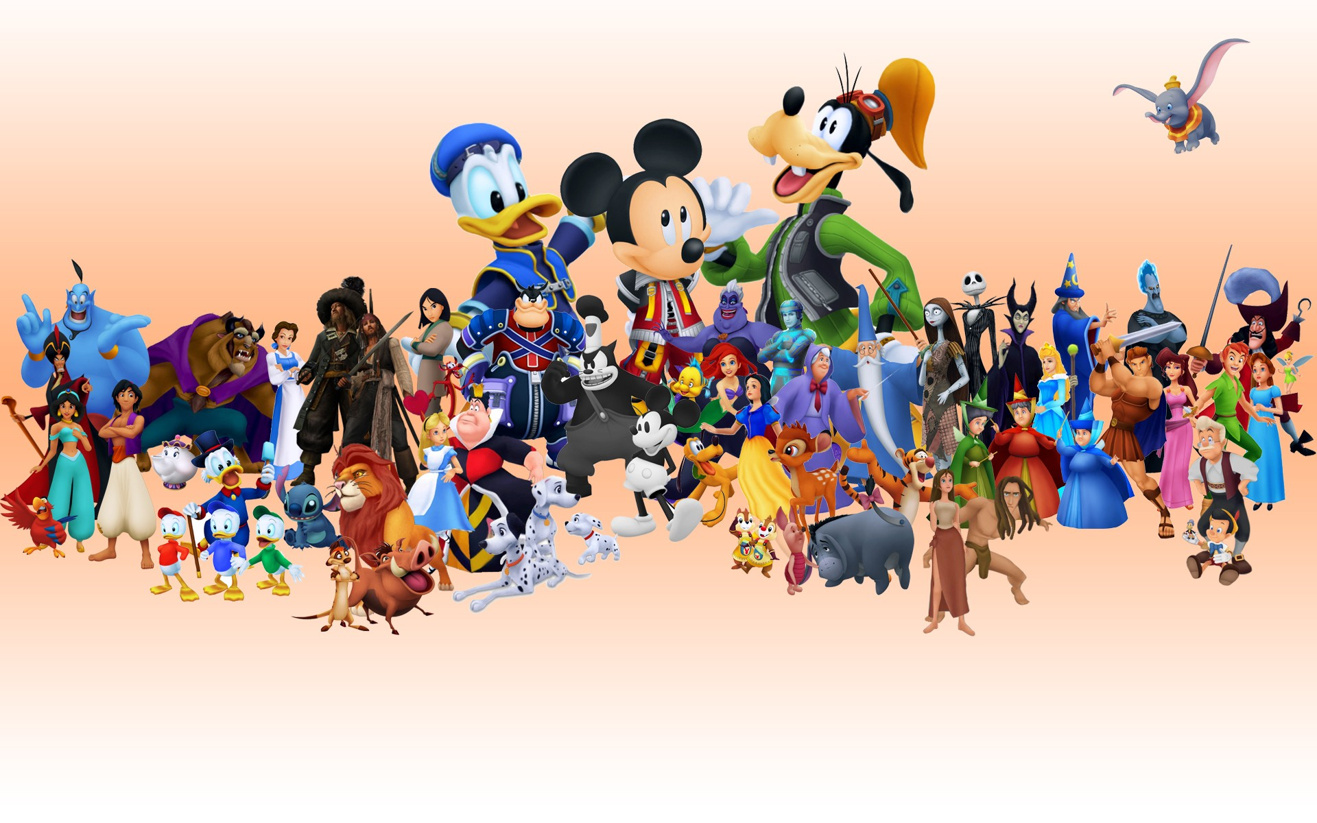 Walt Disney Characters Pictures HD Wallpaper of Cartoon 1920x1200