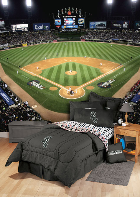 8x12 feet US Cellular Field 2005 World Series Photo Mural Wallpaper 475x665