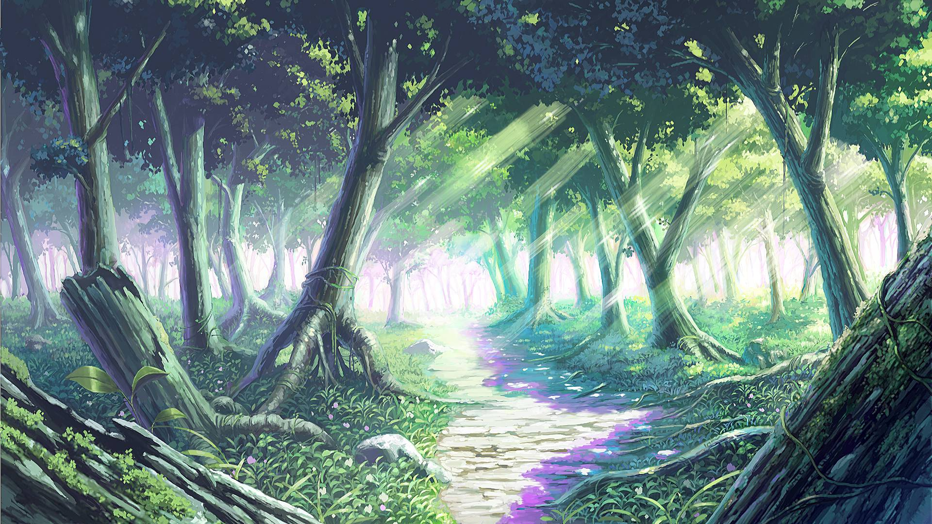 Anime Forest Backgrounds 1920x1080