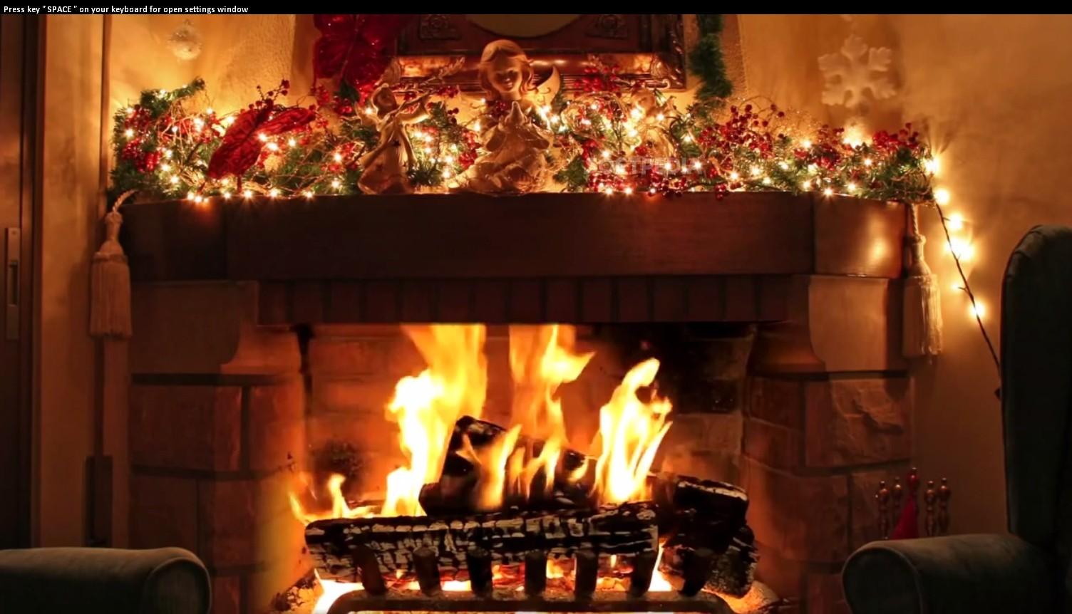 Christmas Fireplace ScreenSaver   Christmas Fireplace ScreenSaver is a 1504x862