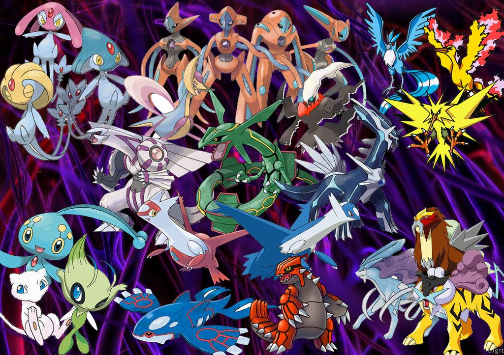 all legendary pokemon wallpapers 1024x723