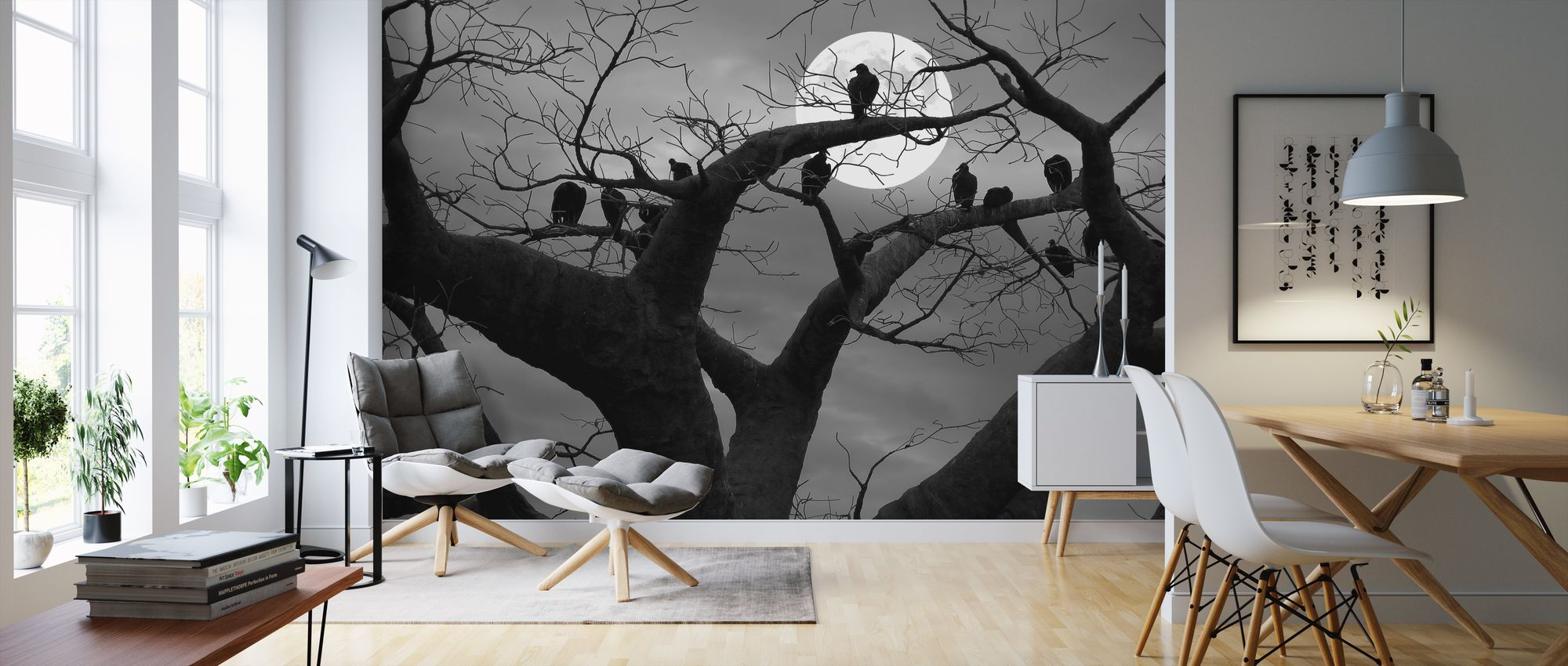 Spooky Tree high quality wall murals with delivery Photowall 2000x850