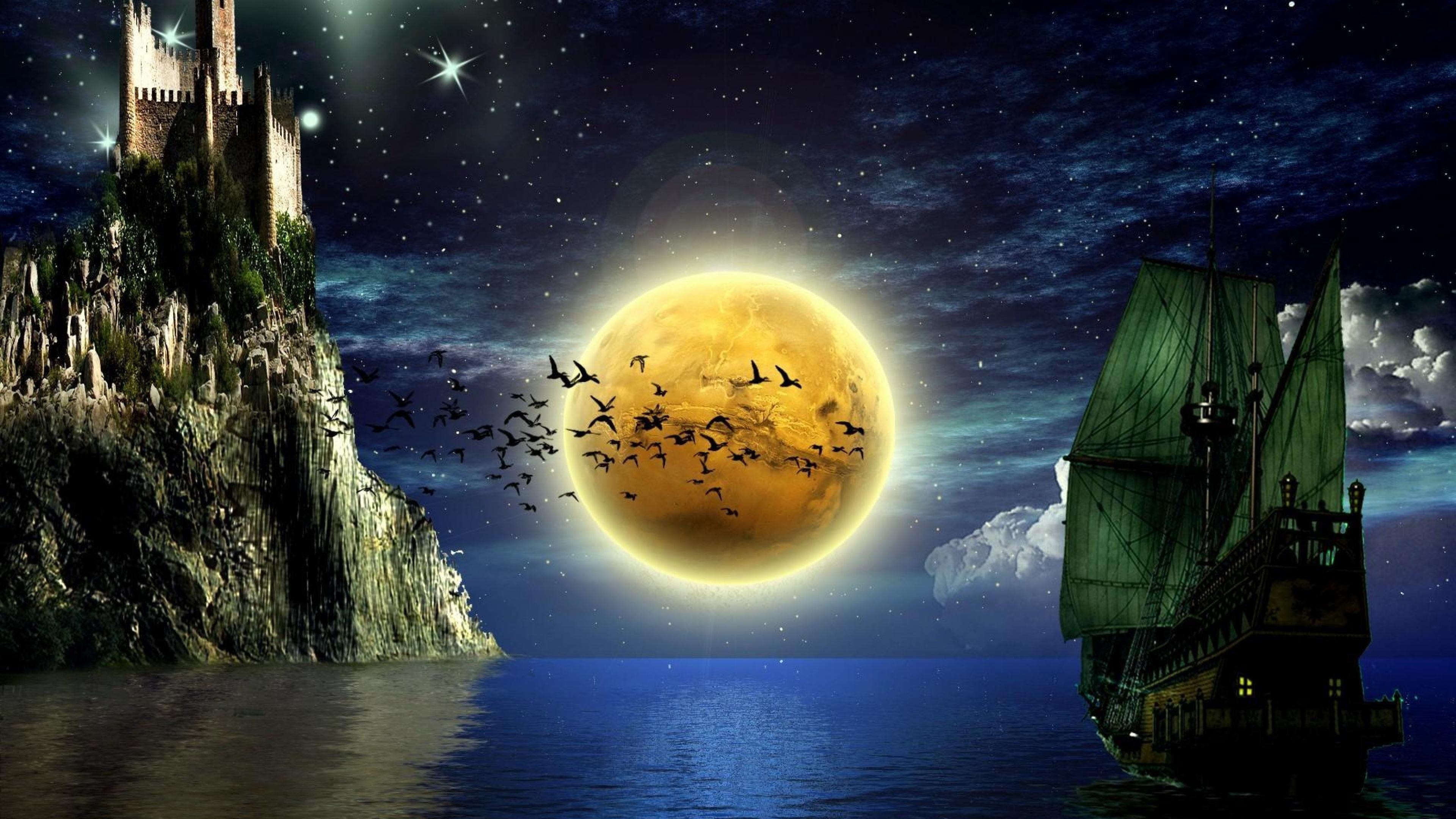 sun and moon desktop wallpaper wallpapersafari