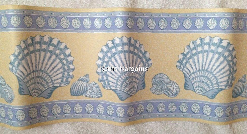 Laura Ashley Seashell Saint Ive Beach ST IVES Wallpaper Border NEW 1024x555