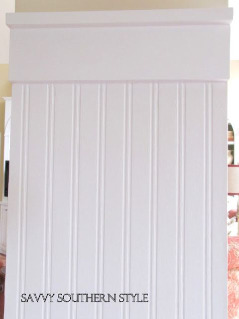 Style Beadboard wallpaper was purchased at our local Ace Hardware 480x640