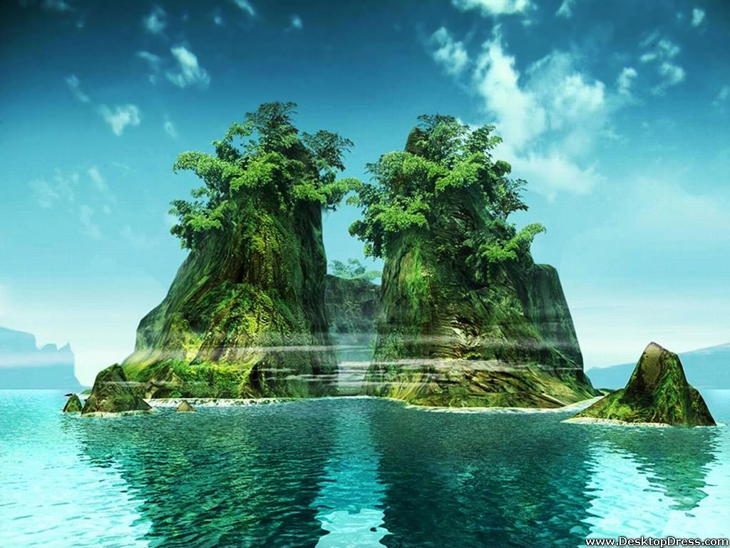 Desktop Wallpapers Natural Backgrounds Island www 1024x768