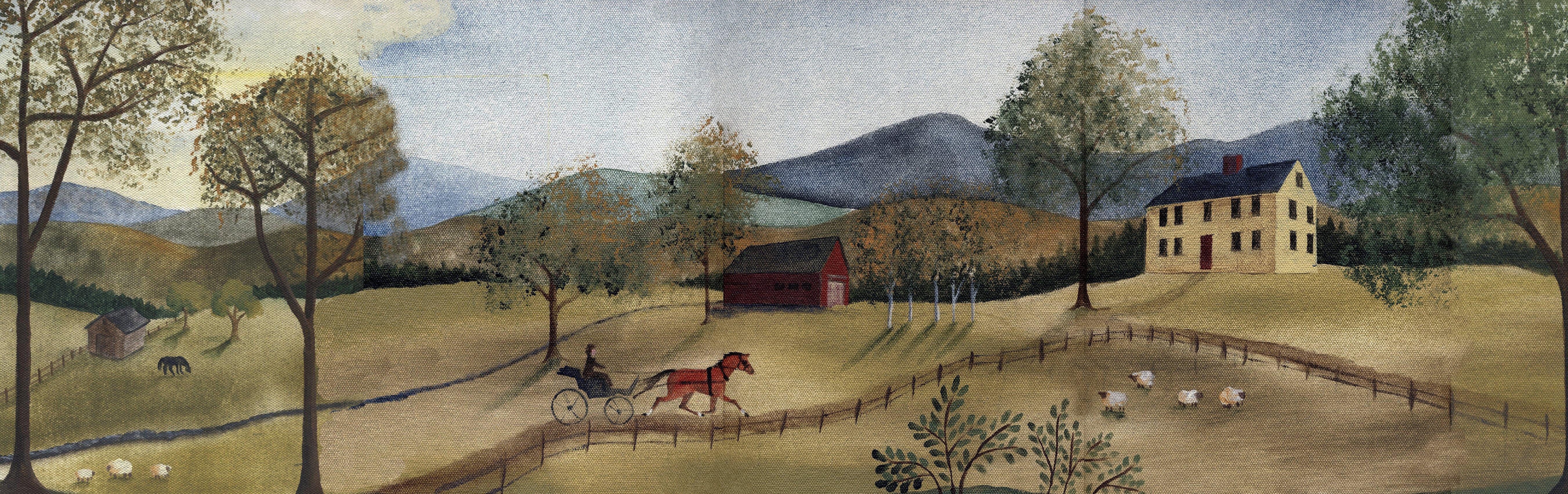 Folk Art Wallpaper Murals Wallpapersafari