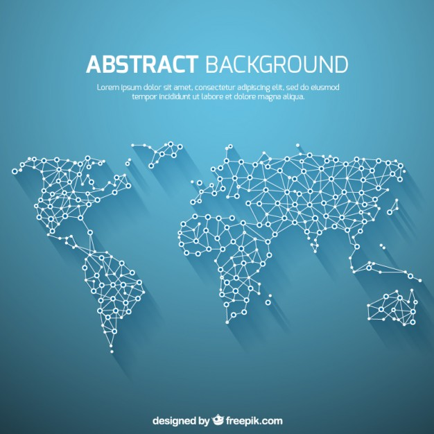 World map background in abstract style Vector Download 626x626