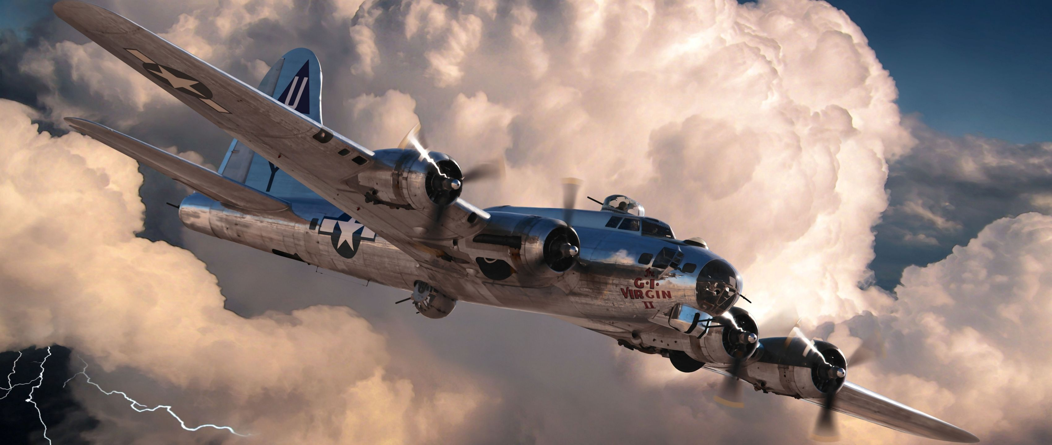 3440x1440 Boeing B 17 Flying Fortress   Wallpaper Cart 3400x1440