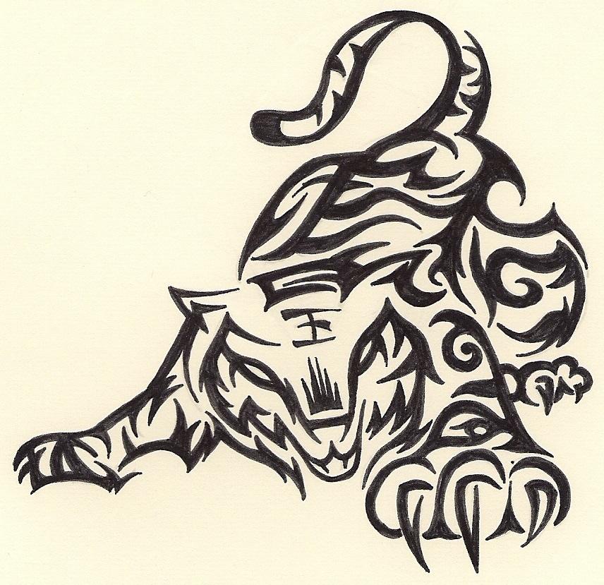 Tribal Iphone Wallpaper: Tribal Dragon Wallpaper