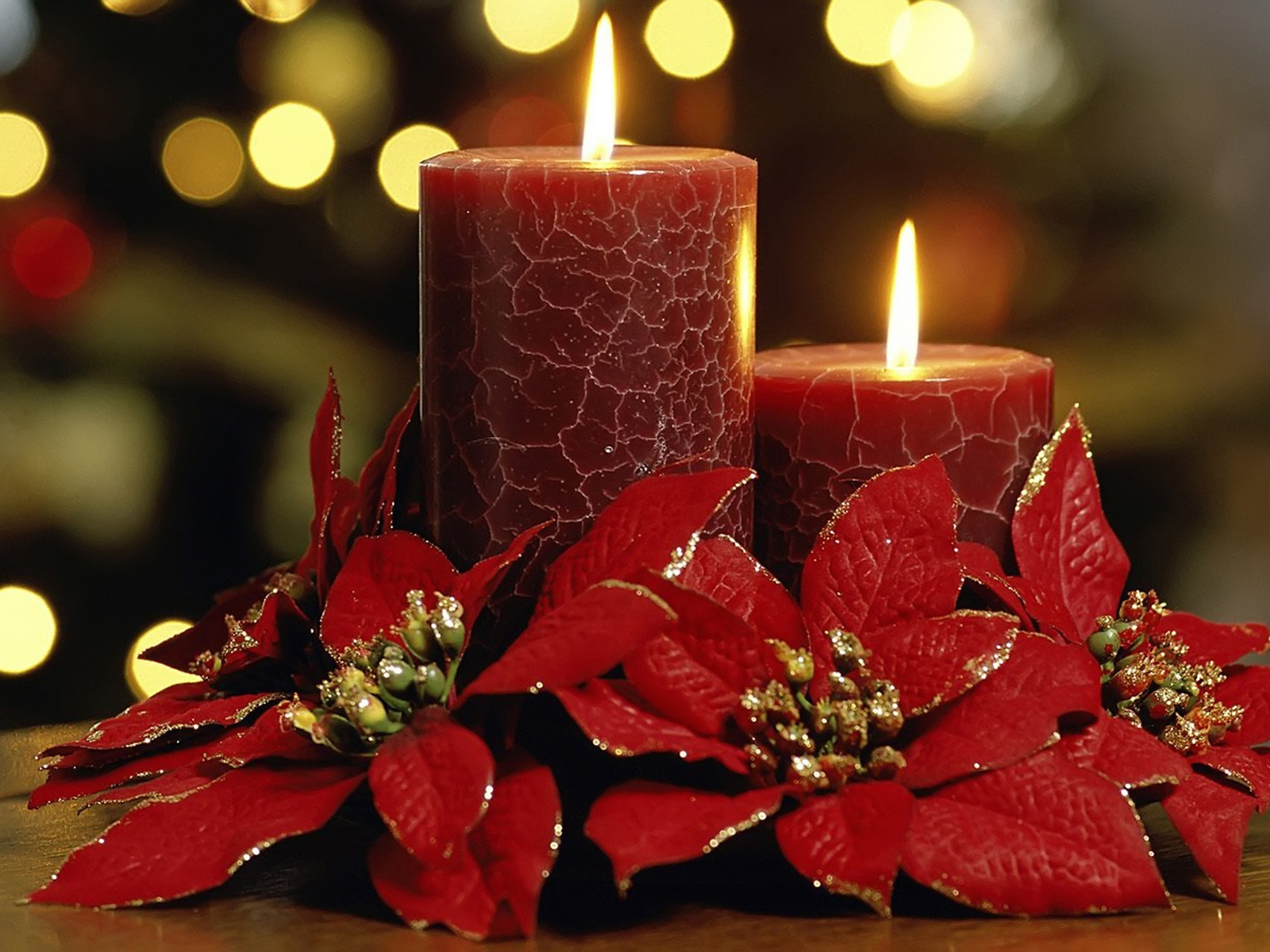 Christmas candles Wallpapers 1600x1200