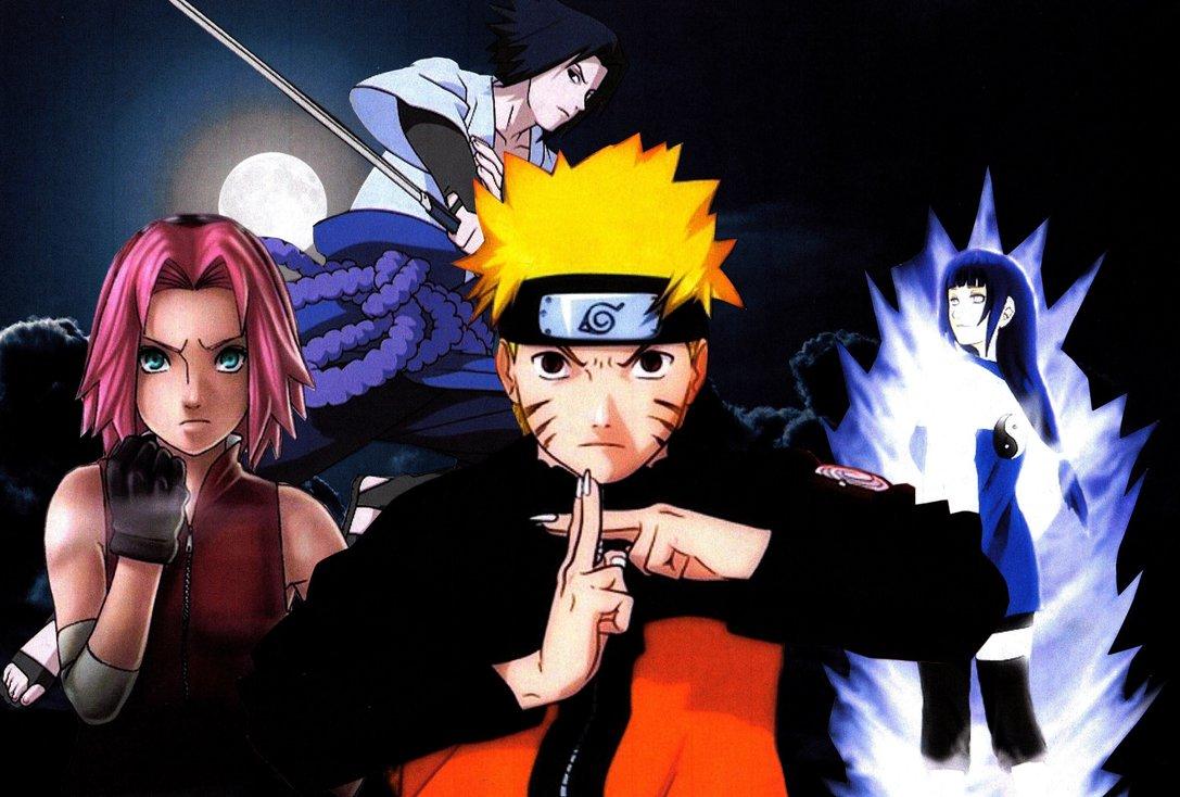 Naruto Sasuke Sakura Hinata Wallpaper by weissdrum 1087x734