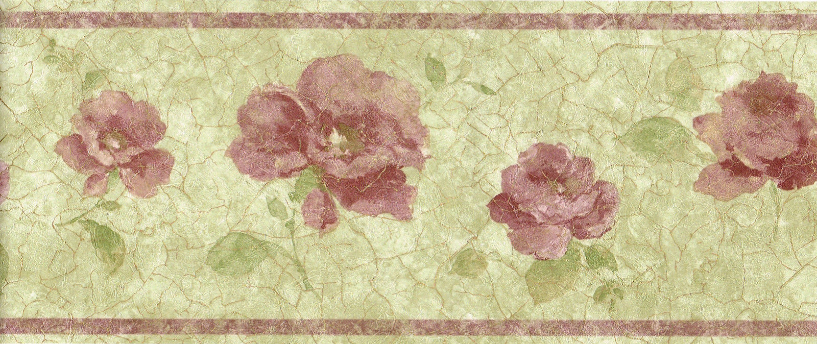 Red Burgundy Gold Flower Floral Wallpaper Wall Border 1600x674